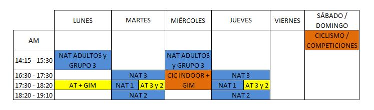 HORARIOS ESCUELITA 17-18